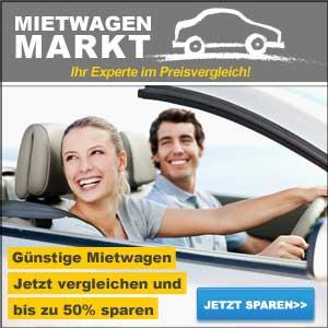 Mietwagen-Preisvergleich bei mietwagenmarkt.de. Vergleichen Sie in Handumdrehen günstige Mietwagen und sparen Sie bis zu 50% zum Normalpreis!