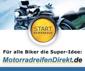Jetzt bei MotorradreifenDirekt.de Tankgutschein abstauben! Erhalten Sie bei Ihrer Bestellung von Reifen und weiterem Motorradzubehör, einen Tankgutschein.