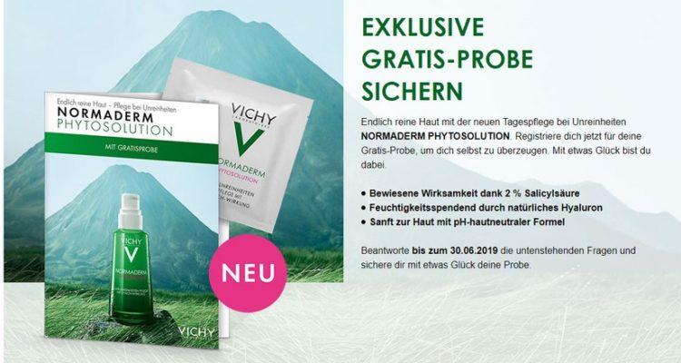 Vichy Produktprobe Normaderm anfordern