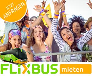 Günstige Busreisen finden Sie beim Anbieter FlixBus. Besonders attraktiv sind die Mietbusse des Anbieters - Ihr Bus für jeden Anlass zum fairen Preis.