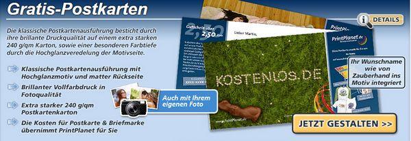 Bei Printplanet Postkarte Online Verschicken Kostenlos Und
