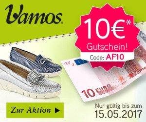 Mit einem aktuellen Vamos Gutschein können Sie beim Kauf modischer Schuhe immer wieder deutlich sparen. Den aktuellen Gutschein also unbedingt nutzen!