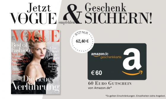 Vogue Abo Jahresabonnement Amazon Gutschein Prämie