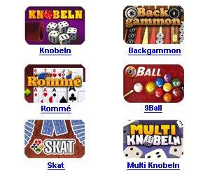 KOSTENLOSE Online-Spiele von M2P, z. B. Skat, Rommé, Solitaire, Backgammon, Knobeln, Pool Billard, 9 Ball, Jewels, Mah Jongg, Parfum de Paris und viel mehr.