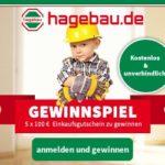 Hagebau: 5 x 100 EUR Einkaufs-Gutscheine gewinnen