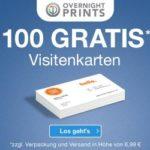 Overnightprints: 100 Visitenkarten KOSTENLOS