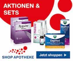 Bei ▶ shop-apotheke.com finden Sie u. a. Aspirin, Paracetamol, Bepanthen Salbe, Thomapyrin Schmerztabletten, Imodium akut, ASS Brausetabletten, WICK MediNait Erkältungssirup, Meditonsin, Voltaren Schmerzgel, Grippostad C Kapseln und mehr für Ihre Gesundheit.