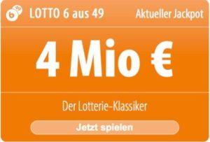 6 Felder für nur 1 EUR: Bei Tipp24 können Neukunden besonders günstig am Samstags-Lotto 6 aus 49 teilnehmen, denn sie bezahlen nur 1 Spielfeld, und von Tipp24 gibt es 5 weitere Spielfelder kostenlos dazu!
