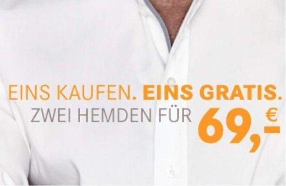 """Bei der Mey & Edlich-Aktion """"2 für 1"""" können Sie derzeit zwei Produkte zum Preis von einem bestellen. Sie selbst entscheiden, ob Sie zwei Hemden, zwei Pullover oder ein Hemd und einen Pullover zum Bundle-Preis von nur 69 EUR bestellen möchten."""