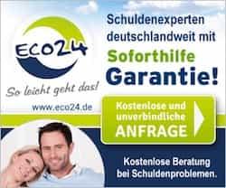 Schuldenfrei werden: Bei eco24 erhalten Sie KOSTENLOS und unverbindlich eine Analyse Ihres Schuldenstandes sowie Wege zur Lösung des Problems.