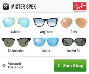 Brillen, Kontaktlinsen, Sonnenbrillen und Sportbrillen jetzt mit dem Mister Spex-Gutschein günstiger kaufen und hochwertige Markenware rabattiert shoppen!