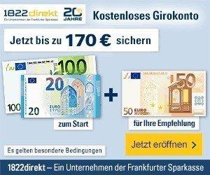 Das attraktive Girokonto der 1822direkt Bank GiroSkyline bietet Ihnen gebührenfreie Kontoführung und eine ganze Menge weiterer attraktiver Konditionen:
