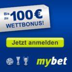 mybet Bundesliga-Wetten: KOSTENLOS anmelden, 100 EUR Neukunden Bonus kassieren!