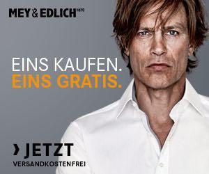 """Bei der Mey & Edlich-Aktion """"2 für 1"""" können Sie derzeit zwei Produkte zum Preis von einem bestellen."""