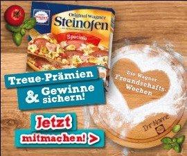 Wagner Pizza: Coupons und Prämien im Wert von 500.000 EUR gewinnen