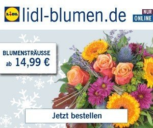 lidl blumen gutchein 3 eur rabatt auf alles. Black Bedroom Furniture Sets. Home Design Ideas