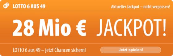 Samstag-Lotto: 28 Mio. EUR im Jackpot, bei uns 5 Tippfelder kostenlos!