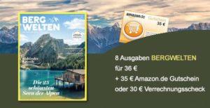 """""""Bergwelten"""" Jahres-Abonnement dank Gutschein 1 EUR!"""