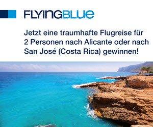Traumhafte Flugreise für 2 Personen nach Costa Rica oder Alicante zu gewinnen!