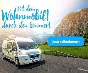 Genieße jetzt den Sommer mit dem gemütlichen Wohnmobil. Mach mit und gewinne ein voll ausgestattetes Wohnmobil für eine Woche mit 500€ Tankgutschein. Einfach das Teilnahmeformular ausfüllen und mit etwas Glück bist du dabei!