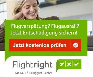 Bei Flugärger wg. verspätetem, ausgefallenem, umgebuchtem oder verpasstem Anschlussflug kämpft Flightright für Ihre Reise-Rechte und für Ihr Geld!