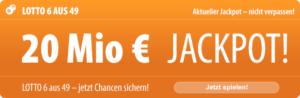 6 Tippfelder für nur 1 EUR: Mit Tipp24 können Neukunden am Mittwoch den 20 Millionen EUR schweren Jackpot ganz besonders günstig knacken, denn Sie bezahlen nur 1 Tippfeld, und von Tipp24 gibt es 5 weitere Tippfelder kostenlos dazu!