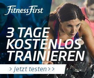 Sichern Sie sich jetzt ein kostenloses, 3tägiges Probetraining bei Fitness First! Die Premium-Fitnessstudios von Fitness First können Sie dabei intensiv auf Herz und Nieren prüfen
