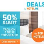 hotel.de: Nicht kostenlos, aber 50 Prozent Rabatt beim TOP-Deal
