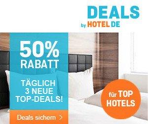 Nicht kostenlos, aber mit mindestens 50 Prozent Rabatt! Geld sparen beim täglichen TOP-Deal von Hotel.de. Heute buchen, und in den nächsten Monaten nutzen!