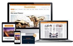 Testen Sie jetzt 6 Wochen den Handelsblatt Digitalpass, der großen deutschen Zeitung für alles rund um Wirtschaft und Finanzen, kostenlos.