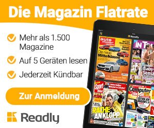 Readly testen und 1.500 Magazine lesen: Die Auswahl reicht von Cosmopolitan und Playboy über Hörzu, Auto Motor und Sport bis hin zu Kicker und SportBILD.
