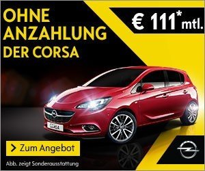 Opel Corsa-Angebot: Ab 111 EUR/Monat ohne Anzahlung!