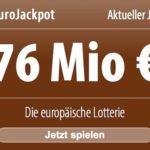 ++ Euro Millones 29 Mio EUR ++ EuroJackpot 57 Mio EUR ++ GRATIS-Tippfelder sichern!