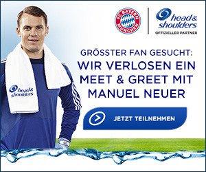 """Gewinnen Sie ein """"Meet & Greet"""" mit Manuel Neuer, Tickets für das FC Bayern-Spiel am 26.11.2016 in der Allianz-Arena sowie einen 500 EUR Reisegutschein."""