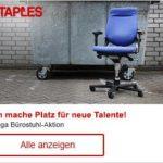 Staples: MEGA Bürostuhl-Aktion mit bis zu 40% Rabatt