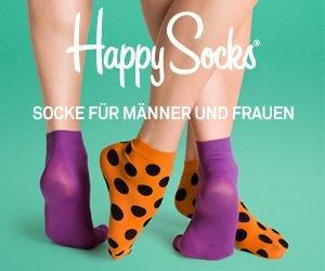 Ausgefallene Socken für Männer und Frauen gibt's bei Happy Socks. Mit dem Happy Socks Gutschein sparen Sie zudem noch bares Geld.