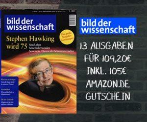 """13 Ausgaben des Wissensmagazins """"Bild der Wissenschaft"""" testen. Und das für effektiv 4,20 EUR! Die Lieferung frei Haus ist natürlich im Preis inbegriffen."""