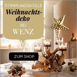 Wenn Sie sich jetzt zum kostenlosen Wenz Newsletter anmelden, können Sie mit etwas Glück 2 Wenz Einkaufs-Gutscheine im Wert von je 250 EUR gewinnen.