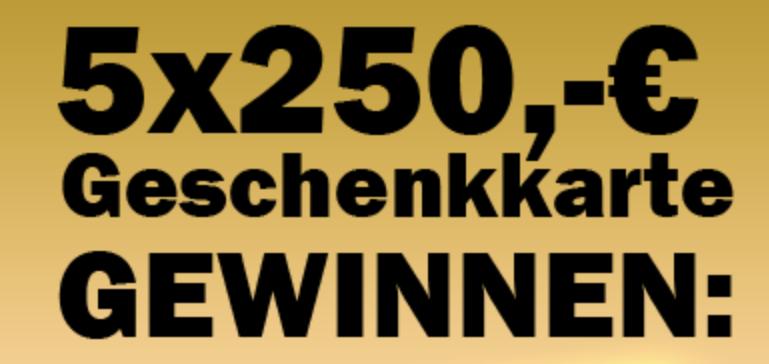 Nehmen Sie jetzt am Technik Gewinnspiel teil und sichern Sie sich Ihre Gewinnchance auf eine 250 Euro Geschenkkarte von Media Markt.