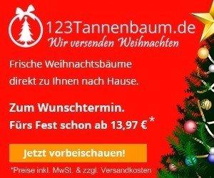 Weihnachtsbaum online mit Rabatt