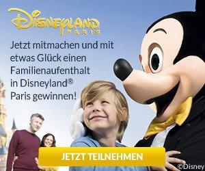 Familienaufenthalt gewinnen ins Disneyland Paris! Mit etwas Glück gewinnen Sie einen Familienaufenthalt für 2 Erwachsene und 2 Kinder.
