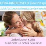 Extra Kindergeld-Gewinnspiel: 250 EUR je Monat gewinnen