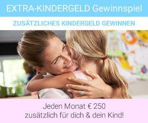 Gewinnen Sie beim Extra Kindergeld-Gewinnspiel eine zusätzliche finanzielle Unterstützung in Höhe von 250 EUR im Monat, 3 Jahre lang!