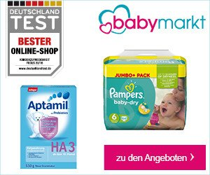 Melden Sie sich jetzt kostenlos zum Babymarkt Newsletter an, und gewinnen Sie mit etwas Glück einen exklusiven 100 EUR Einkaufs-Gutschein für babymarkt.de.