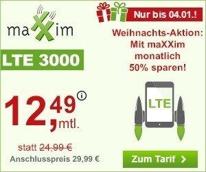 Weihnachts-Aktion 50 Prozent sparen