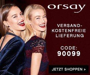 Tolle Rabatt-Aktion auf Orsay.de: Sie erhalten 20% Rabatt auf Ihren Lieblingsartikel. Jetzt shoppen und noch für Weihnachten kräftig sparen!
