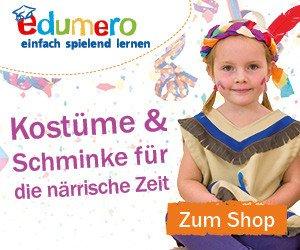5,55 EUR Rabatt auf Ihren nächsten EInkauf gibt es mit dem edumero.de Gutschein. Dieser gilt nur kurze Zeit auf Lernspielzeuge, Kostüme und mehr!