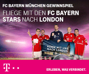 Machen Sie jetzt beim FC Bayern München Gewinnspiel mit und gewinnen Sie eine Reise zum Championsleague-Spiel gegen Arsenal London!