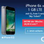 O2 WOW der Woche: iPhone 6s mit Sky Ticket + 330 EUR Rabatt