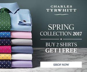 Charles Tyrwhitt-SALE: Mit dem Charles Tyrwhitt-Gutschein sparen Damen und Herren bei Hemden und Blusen, Seidenkrawatten, Manschettenknöpfen, Anzüge, Pullovern, Mänteln etc.